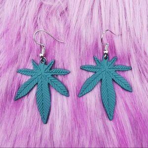 420 Leaf Dangle Earrings